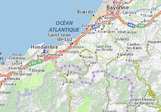 Kaart Plattegrond Ascain