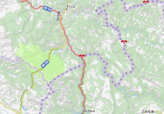Šćepan Polje Map