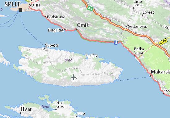 Pučišća Map