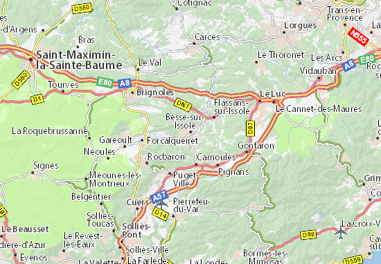 Besse-sur-Issole Map