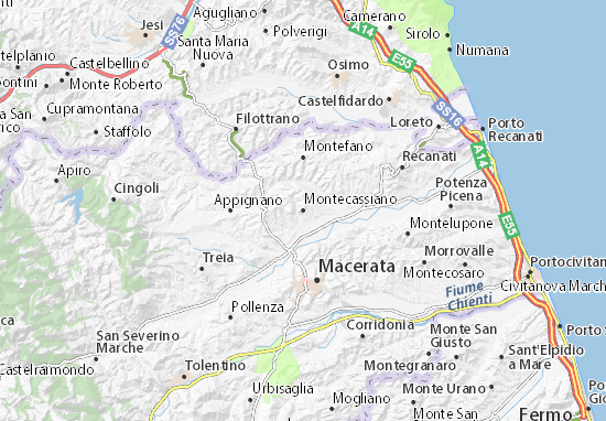 Montecassiano Map