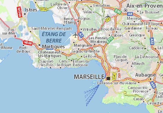 Karte Stadtplan Le Rove