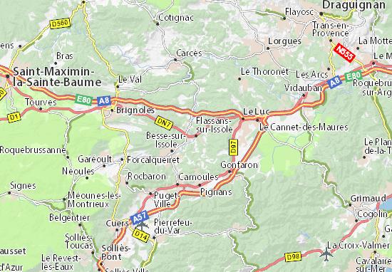 Carte-Plan Flassans-sur-Issole