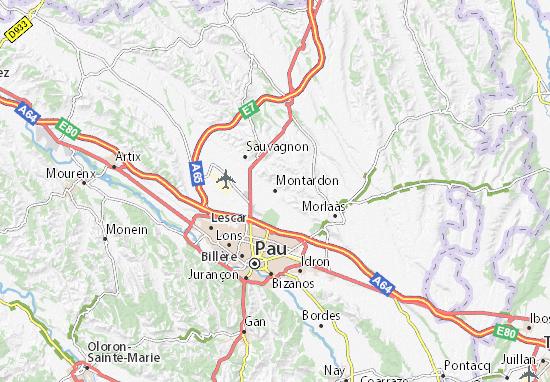 Montardon Map