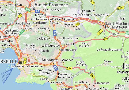 Karte Stadtplan Auriol