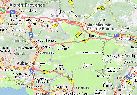 Nans-les-Pins Map