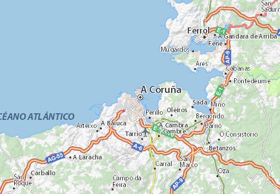 A Coruña Map