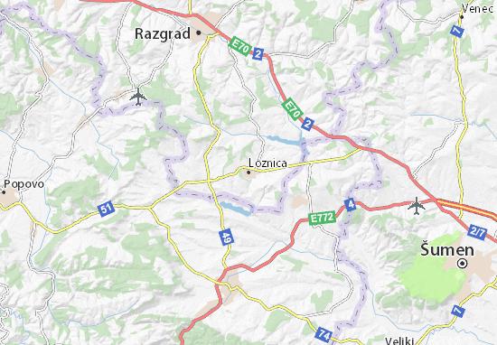 Loznica Map