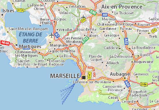 Map of marseille 15 michelin marseille 15 map viamichelin for Region bouche du rhone