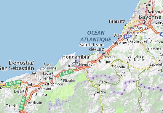 Hendaye France Map.Hendaye Plage Map Detailed Maps For The City Of Hendaye Plage