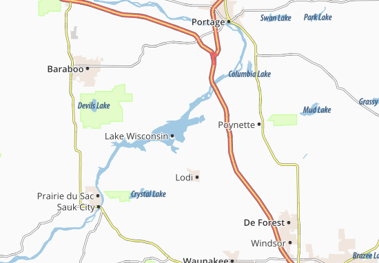 Map of Lake Wisconsin - Michelin Lake Wisconsin map ...