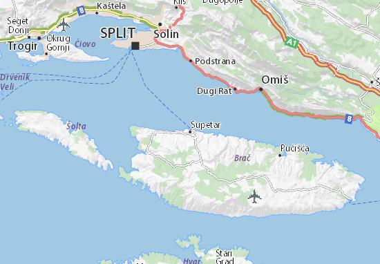 Supetar Map