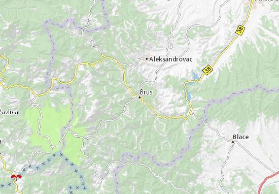 Kaart Plattegrond Brus