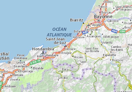 Carte-Plan Saint-Jean-de-Luz