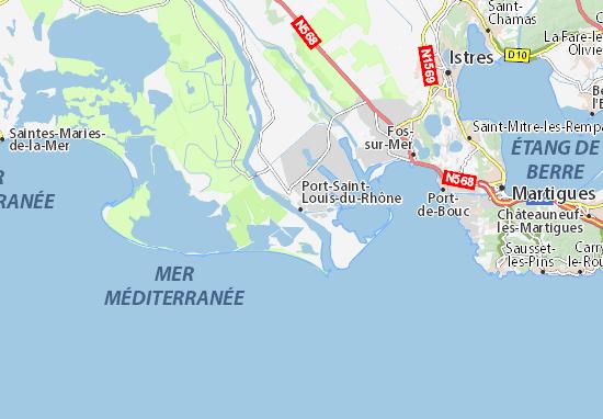 Carte d taill e port saint louis du rh ne plan port - Office du tourisme port saint louis du rhone ...