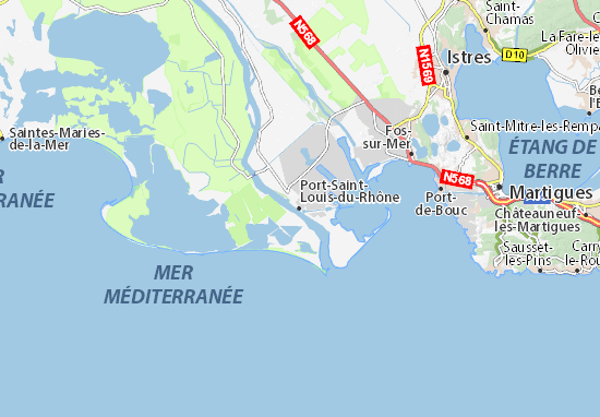 Karte stadtplan port saint louis du rh ne viamichelin - College port saint louis du rhone ...