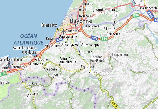 Kaart Plattegrond Ustaritz
