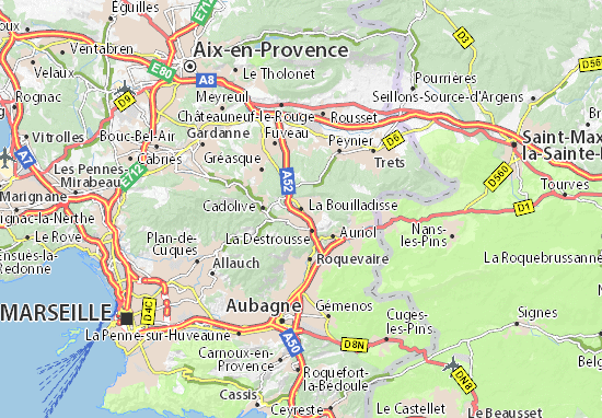 Carte-Plan La Bouilladisse