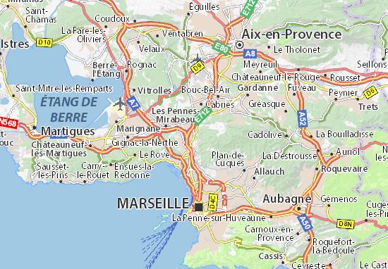 Kaart Plattegrond Septèmes-les-Vallons