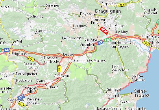 Kaart Plattegrond Ramatuelle