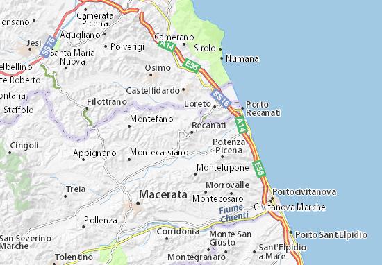 Recanati Map