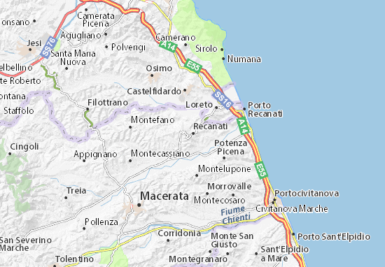 Mappe-Piantine Recanati