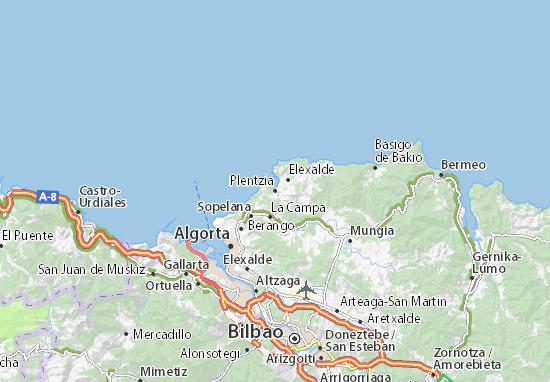 Kaart Plattegrond Plentzia