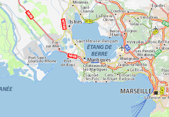 Ici Martigues  dp ( 13) Carte?map=viamichelin&z=10&lat=43.40738&lon=5.05484&width=550&height=382&format=png&version=latest&layer=background&debug_pattern=