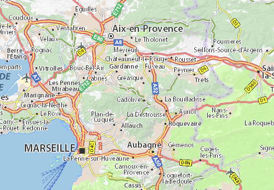 Kaart Plattegrond Saint-Savournin