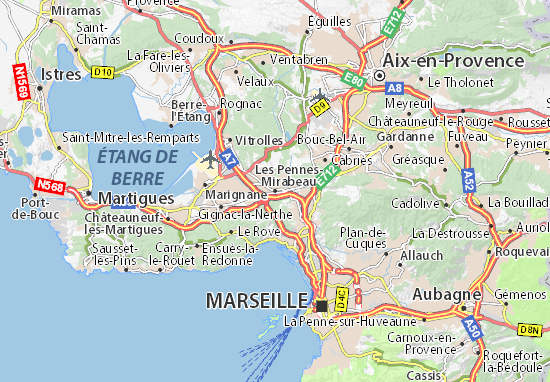 Mapa Plano Les Pennes-Mirabeau