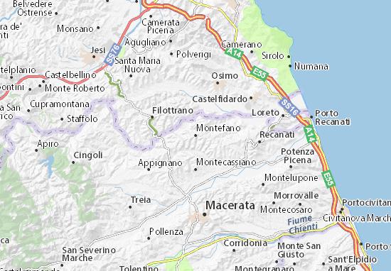 Mapas-Planos Montefano