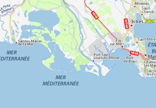 Carte d taill e salin de giraud plan salin de giraud - Office du tourisme salin de giraud ...
