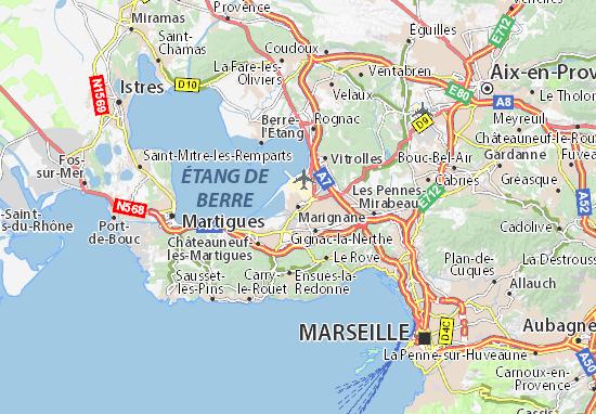 Marignane Map