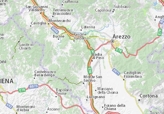 Cartina Geografica Di Arezzo.Mappa Michelin Civitella In Val Di Chiana Pinatina Di Civitella In Val Di Chiana Viamichelin