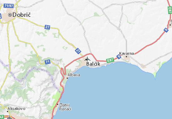 Kaart Plattegrond Balčik
