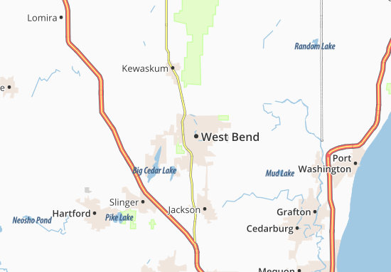 West Bend Map