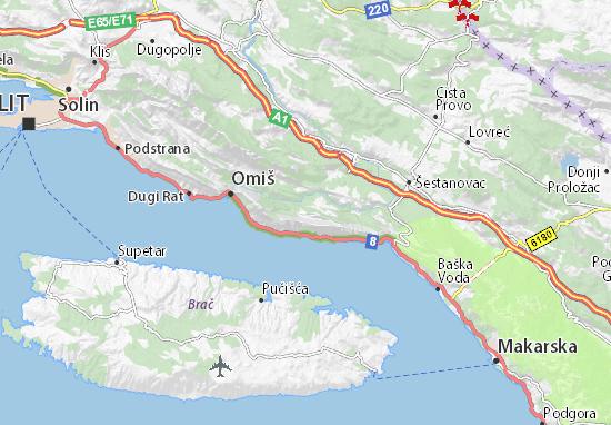 Cartina Stradale Baska Croazia.Mappa Svinisce Cartina Svinisce Viamichelin