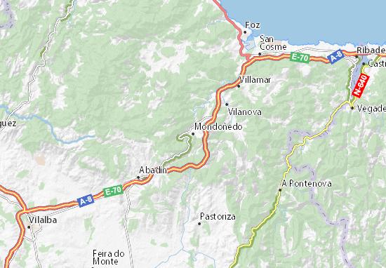 Mondoñedo Map