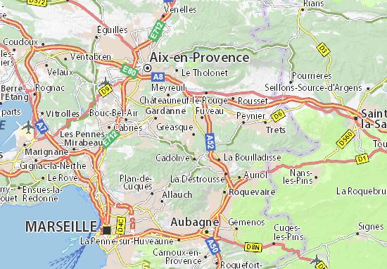 Karte Stadtplan Gréasque