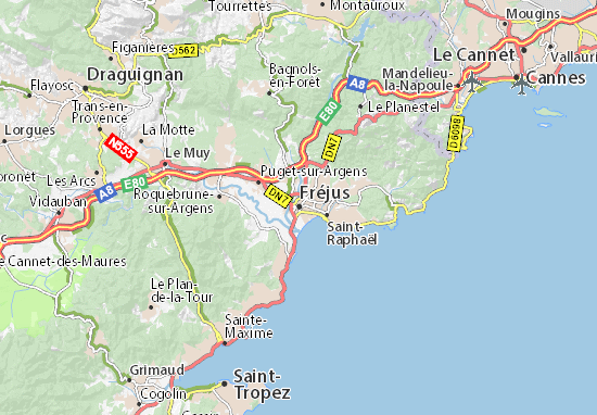 Map Of Fréjus Michelin Fréjus Map Viamichelin