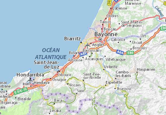 Kaart Plattegrond Arbonne