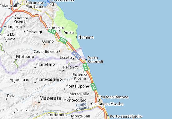 Mapas-Planos Porto Recanati