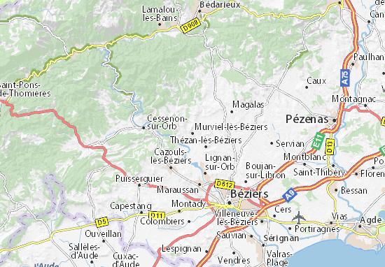 Mapa Plano Murviel-lès-Béziers
