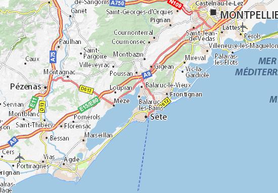 Kaart Plattegrond Balaruc-les-Bains