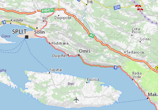 Carte-Plan Omiš