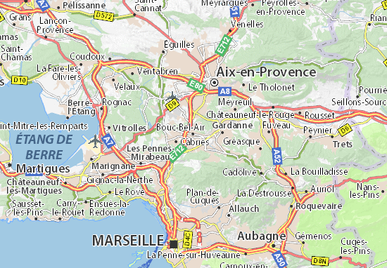 Mappe-Piantine Bouc-Bel-Air