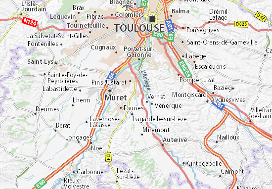 Mapas-Planos Labarthe-sur-Lèze