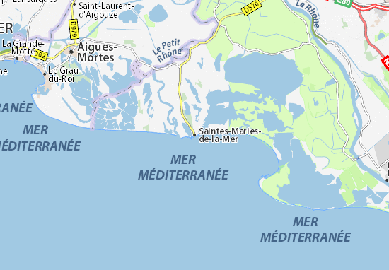 Map of saintes maries de la mer michelin saintes maries - Office du tourisme sainte marie de la mer ...