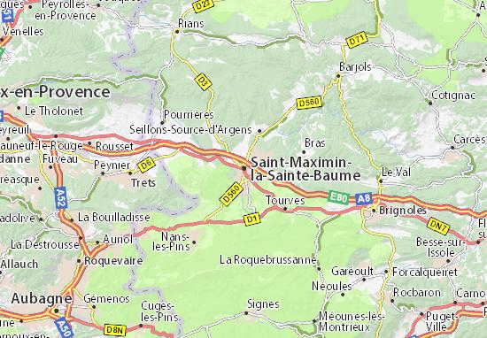 Mappe-Piantine Saint-Maximin-la-Sainte-Baume