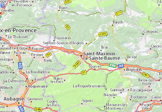 Saint Maximin La Sainte Baume Map Detailed Maps For The City Of Saint Maximin La Sainte Baume Viamichelin